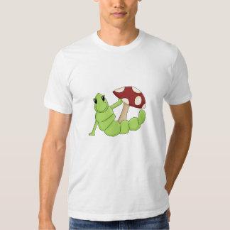 El dibujo animado lindo Caterpillar Worm diseño Polera