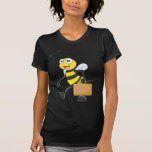 El dibujo animado lindo de la abeja lleva al camisetas