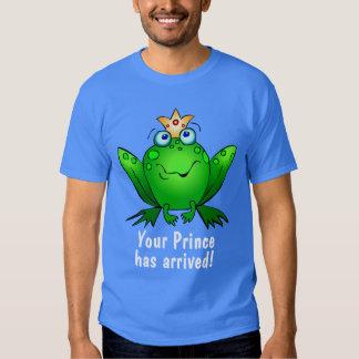 El dibujo animado lindo de la rana su príncipe ha remera