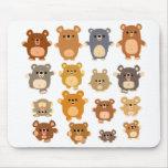 El dibujo animado lindo lleva el mousepad tapete de ratones