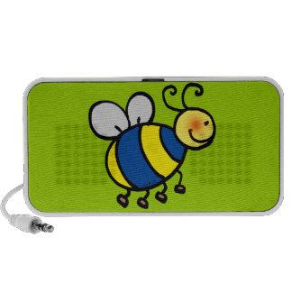 El dibujo animado lindo manosea la abeja iPhone altavoz