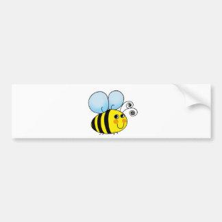 El dibujo animado lindo manosea la abeja pegatina para auto