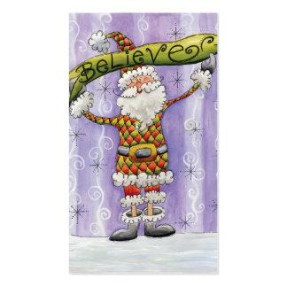 El dibujo animado lindo Papá Noel, cree, las Tarjetas De Visita