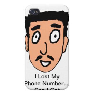 El dibujo animado malo coge la línea individuo fan iPhone 4 funda