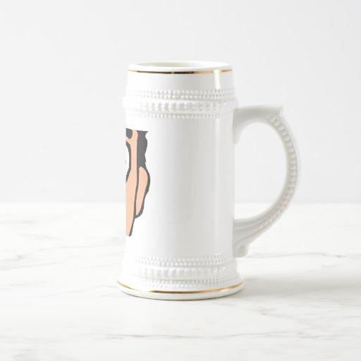 El dibujo animado malo coge la línea individuo fan tazas de café