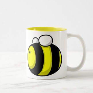 El dibujo animado manosea la abeja taza de dos tonos