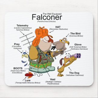 El dibujo animado Mousepad del halconero Alfombrilla De Ratón