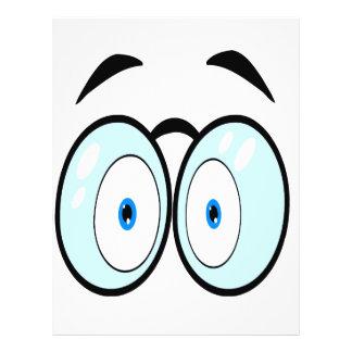 """El dibujo animado observa con los vidrios folleto 8.5"""" x 11"""""""
