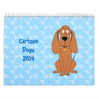 El dibujo animado persigue el calendario 2014
