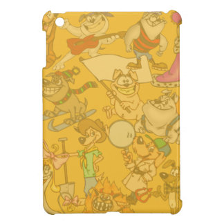 El dibujo animado persigue la mini caja del iPad