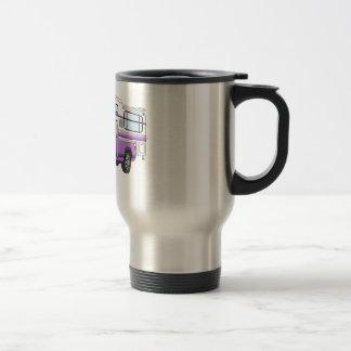 El dibujo animado púrpura coge el campista taza térmica
