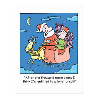 El dibujo animado Santa del navidad necesita una Tarjeta Postal