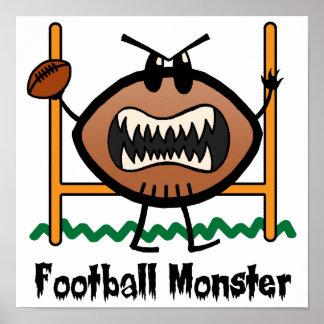 El dibujo animado se divierte al monstruo enojado posters