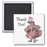 El dibujo animado Turquía rosada le agradece imán