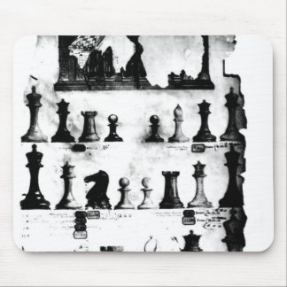 El dibujo de la patente de las piezas de ajedrez d mouse pad