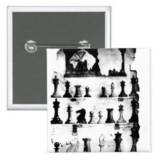 El dibujo de la patente de las piezas de ajedrez d pin cuadrada 5 cm