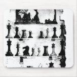 El dibujo de la patente de las piezas de ajedrez d alfombrilla de raton