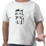 El dibujo de la patente de las piezas de ajedrez camiseta