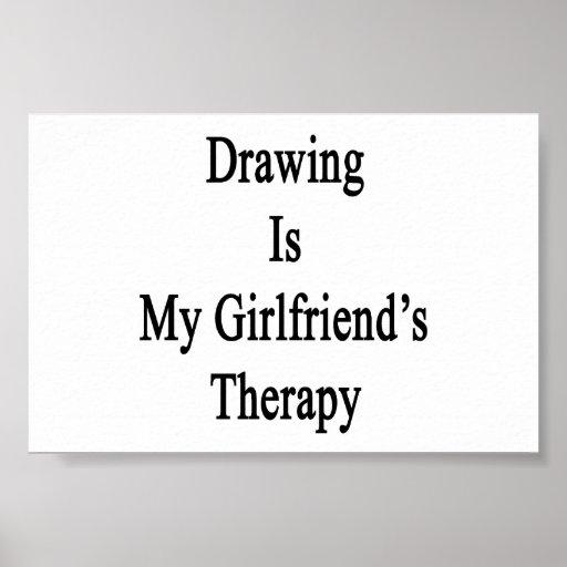El dibujo es la terapia de mi novia impresiones