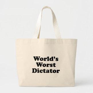 El dictador peor del mundo bolsas de mano