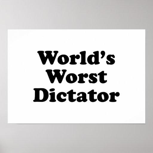 El dictador peor del mundo poster