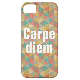 El diem de Carpe, agarra el día, citas de motivaci iPhone 5 Case-Mate Fundas