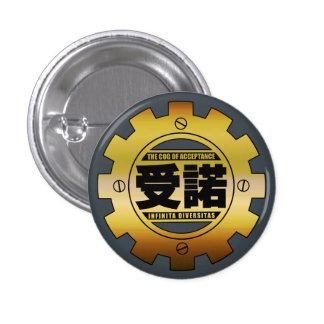 El diente de la insignia del Pin de la aceptación Pin Redondo 2,5 Cm