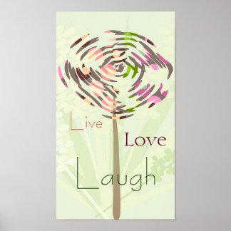 El diente de león del verano, vivo, ama, ríe. Pers Poster