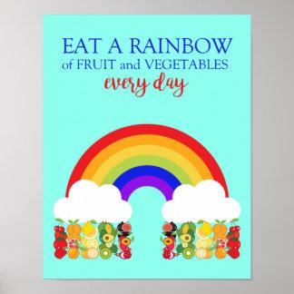 El dietético come una fruta y un Veg sanos del Póster