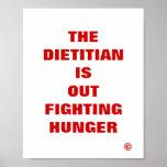 El dietético hacia fuera está luchando hambre posters