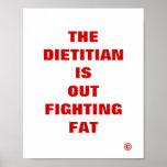 El dietético hacia fuera está luchando la grasa impresiones