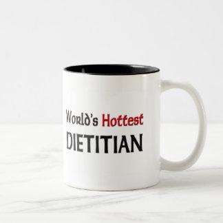 El dietético más caliente de los mundos taza de café de dos colores