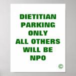 El dietético que parquea solamente todos los otros posters