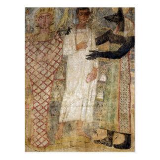 El difunto y su momia protegidos por Anubis Tarjetas Postales