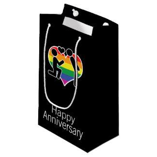 Él dijo al gay sí feliz del aniversario temático bolsa de regalo pequeña