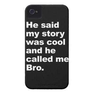 él dijo que mi historia era fresca iPhone 4 Case-Mate protectores