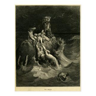 El diluvio de Gustavo Dore basado en la arca de No Postal