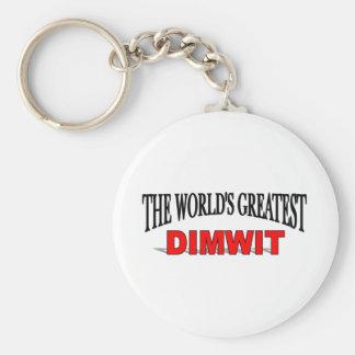 El Dimwit más grande del mundo Llavero Redondo Tipo Pin
