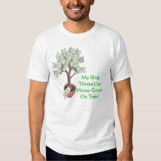 El dinero crece en los árboles - esposa playera