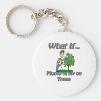 el dinero creció en árboles llavero redondo tipo pin