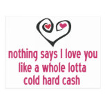 El dinero es amor postal