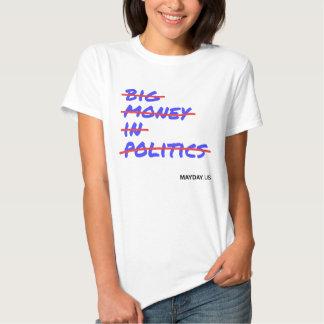 El dinero grande de las mujeres en la camiseta de remera