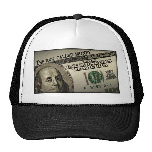 El dinero llamado del ídolo gorras