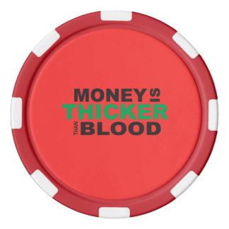 El dinero modificado para requisitos particulares juego de fichas de póquer