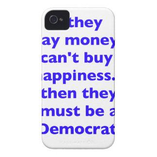El dinero no da la felicidad rojo azul negro de De Case-Mate iPhone 4 Protector