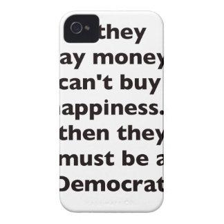El dinero no da la felicidad rojo azul negro de De Case-Mate iPhone 4 Cárcasas