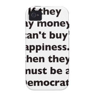 El dinero no da la felicidad rojo azul negro de De Case-Mate iPhone 4 Carcasa