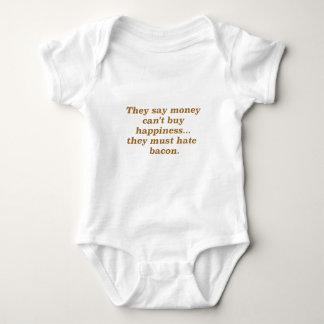 El dinero no da la felicidad rojo negro de Bacon2 Camisas