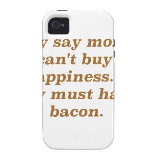 El dinero no da la felicidad rojo negro de Bacon2 Case-Mate iPhone 4 Carcasas