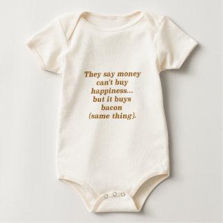 El dinero no da la felicidad rojo negro de Brown Body De Bebé